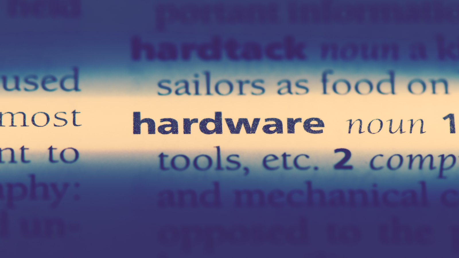 Hardware Definition marked