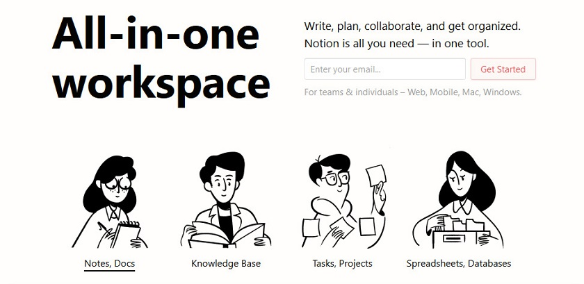 Notion App All-in-One Workspace
